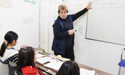 英検クラスの授業風景
